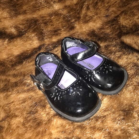Baby Girl Black Patent Leather Shoes
